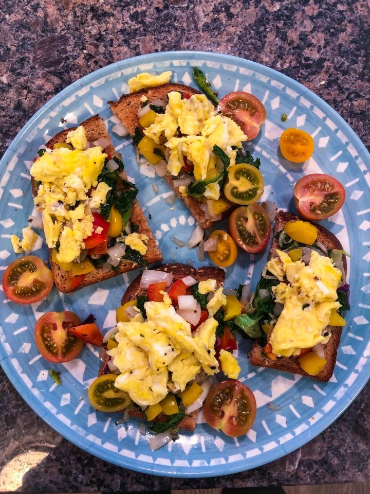 Vegetable Slaw & EggToast